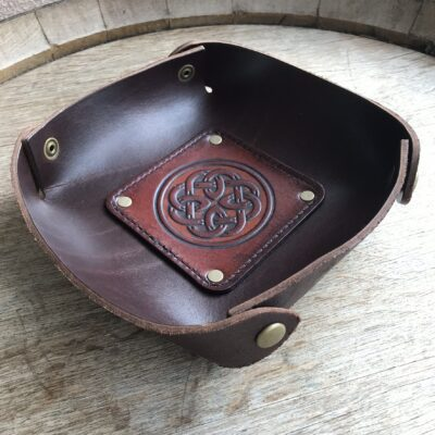 LEATHER VALET TRAY – Leather Catch All – CELTIC FATHERHOOD KNOT