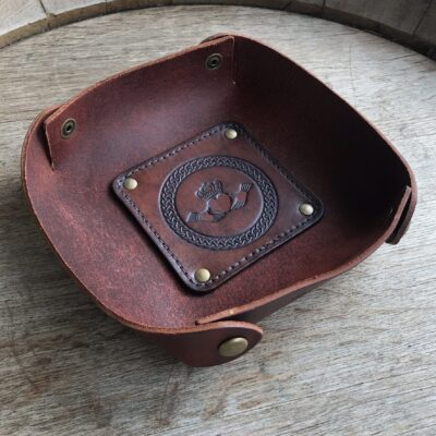 LEATHER VALET TRAY – Leather Catch All – IRISH CLADDAGH