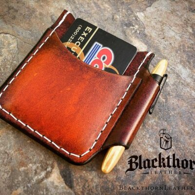 Leather Wallet  – ROVER II with FISHER Space Pen Sidecar Pocket