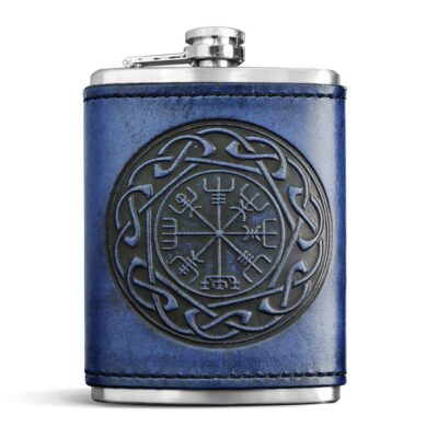 FLASK – Leather Wrapped Flask – VEGVISIR