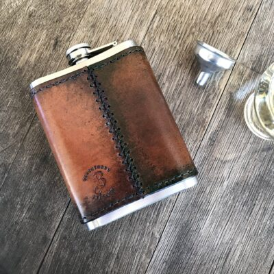 FLASK – Brown Leather Wrapped Flash