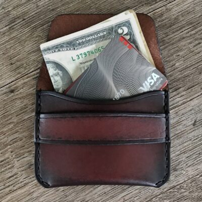 Leather Wallet  – The Garrison – ANTIQUE BROWN Leather