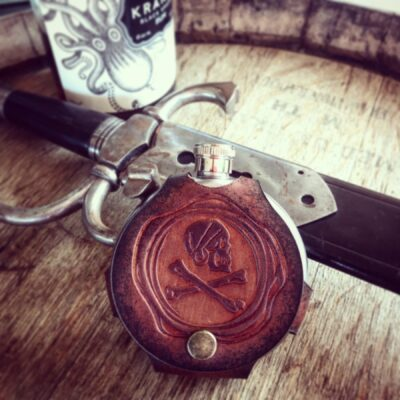 FLASK – Round Leather Wrapped Flask