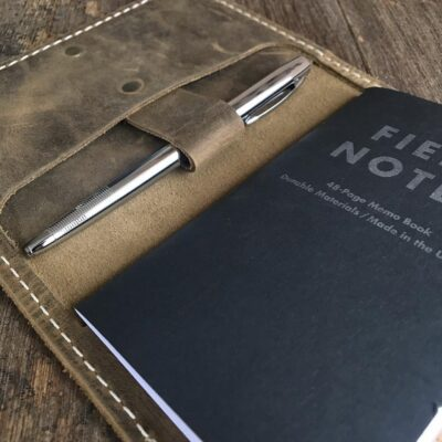 NOTEBOOK – Leather Field Notes Cover – Passport Travel Wallet