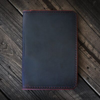 NOTEBOOK – LIMITED: BLACK CHERRY GHOST Leather Notebook