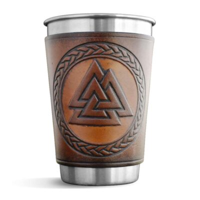Pint – Leather Wrapped Pint – VALKNUT