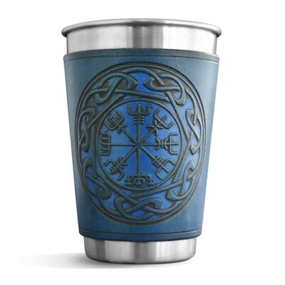 Pint – Leather Wrapped Pint – VEGVISIR