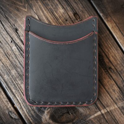 Leather Wallet  – LIMITED: BLACK CHERRY GHOST ROVER II