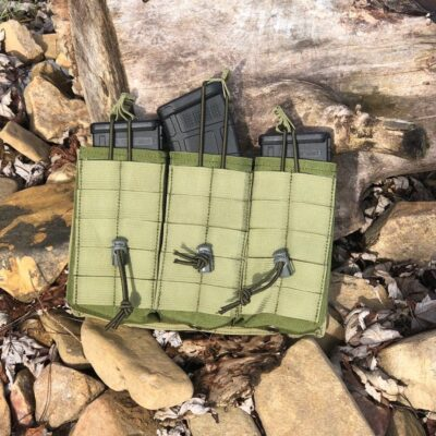 Mag Pouch  – 3 mag pouch shingle- 5 strip mag carrier – Molle attachment
