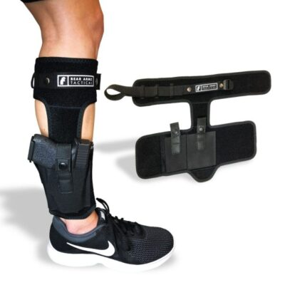 Ankle Holster – Bear Armz Concealed Carry – Snap Retention w/ Calf Strap