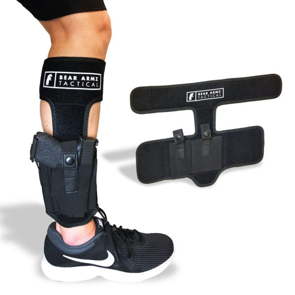 BEAR ARMZ TACTICAL ANKLE HOLSTER conceal carry neoprene snap retention without calf strap