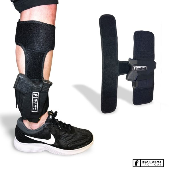 BEAR ARMZ TACTICAL ANKLE HOLSTER conceal carry neoprene velcro retention