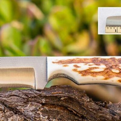 Compact Knife – Anza Knives -111 Nute FE LHH File Blade