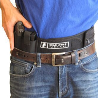 Tactical Belly Band Holster conceal carry easy grab
