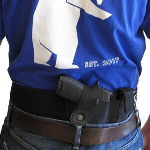 Tactical Belly Band Holster conceal carry easy grab back side